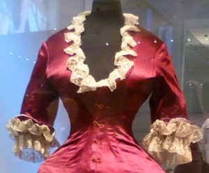 36 Cuirass bodice dress 1876 close up