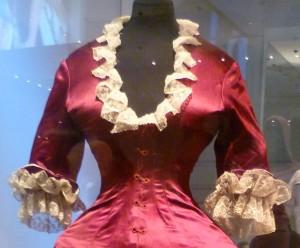 36 Cuirass bodice dress 1876 close up