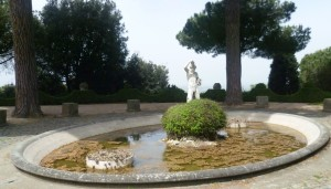 Gardens Bacchus fountain