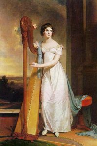 Lady with a harp Eliza Ridgely by Thomas Sully, 1818